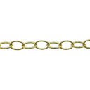 [06222] Ceiling Chain Medium Oval Brassed, Overall Link Size 22x15mm, mtr