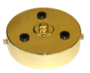 [05657] 3-Outlet Ceiling Rose Metal 100mm Width (Brass Plated)