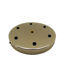 [05635] 6-Outlet Ceiling Rose Metal 200mm Width (Brass Plated)