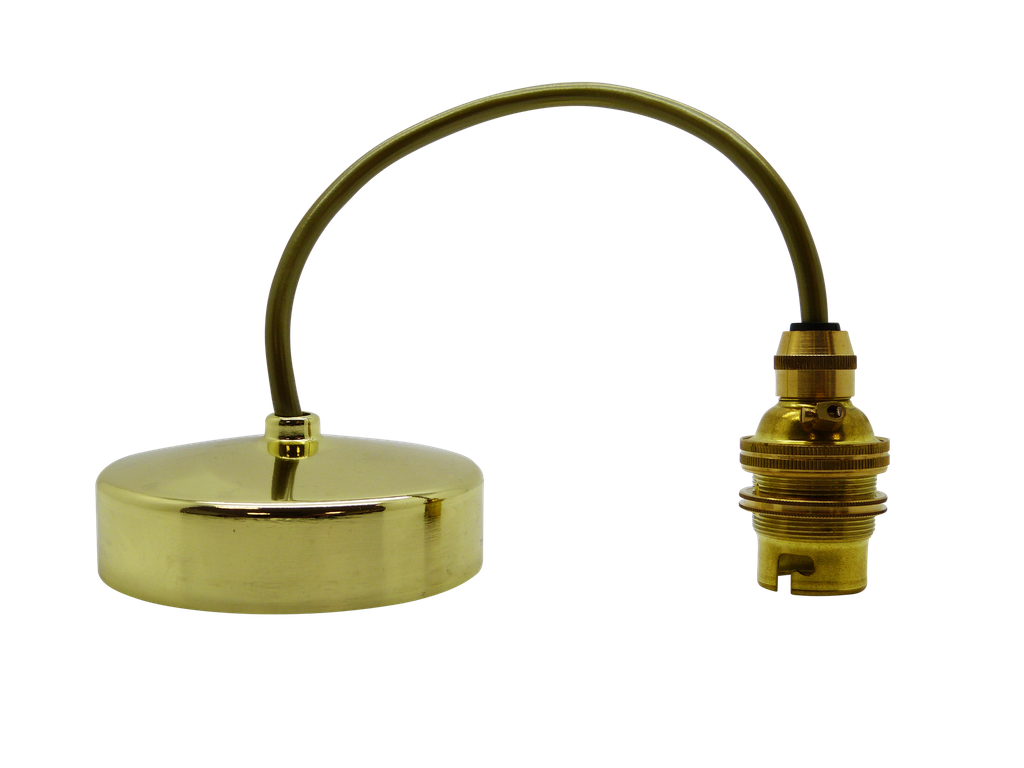 "Metal & PVC Pendant BC / B22 88mm Diameter, 9"" Height (Adjustable), Shade Compatible (Lock Ring Included)"