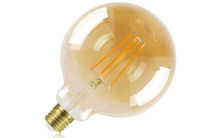 G125 Globe 125mm Amber Tint Dimmable 5W