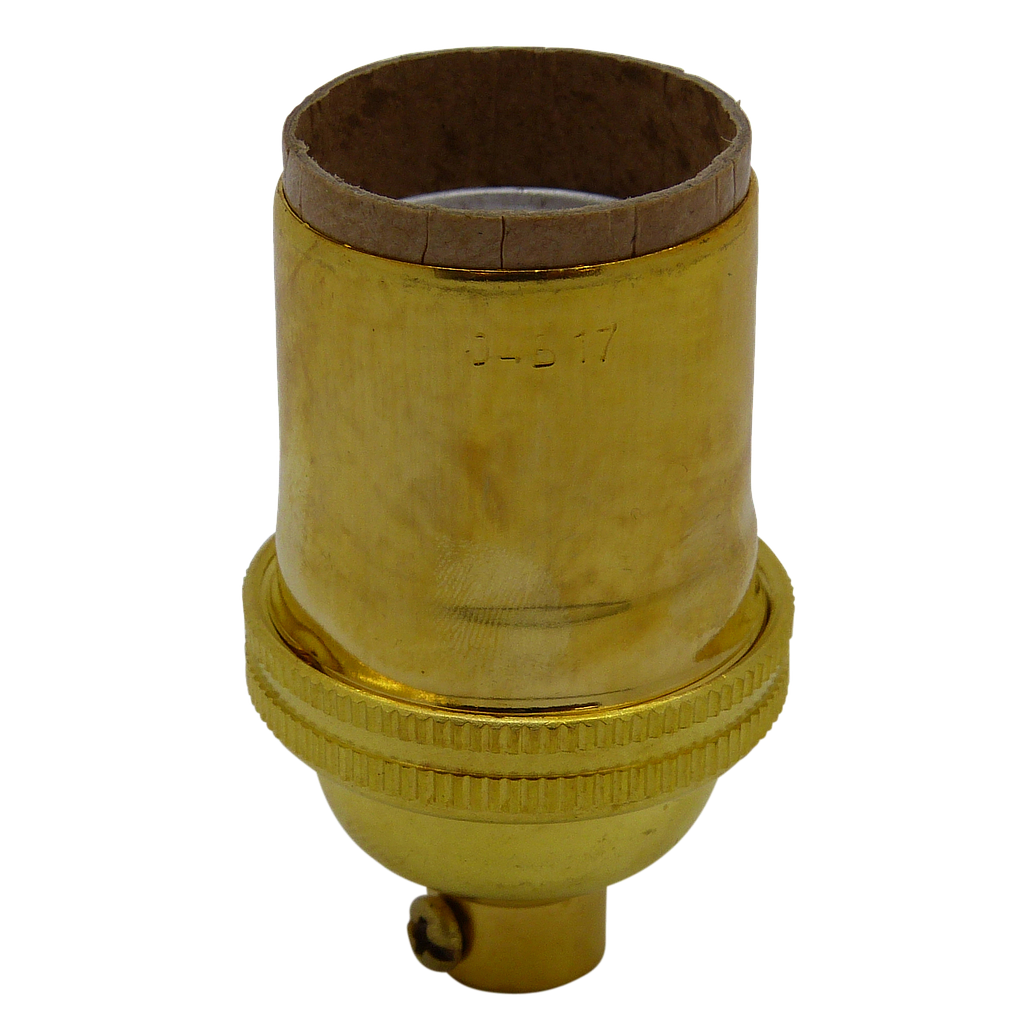 E26 Brassed Unswitched Lampholder UL rated