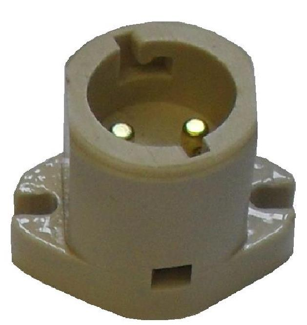 Porcelain Battenholder BC / B22 Not Shade Compatible