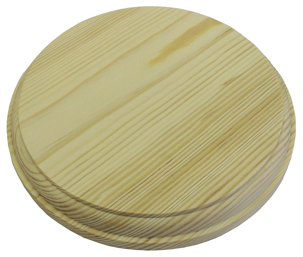 [05773] Circular Wood Pattress, Diameter - 7""