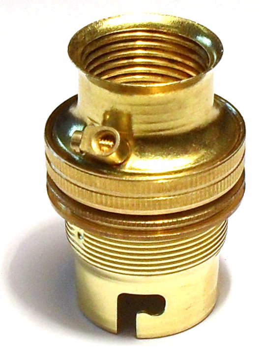 [05246] BC Lampholder ¾'' Unswitched Brass