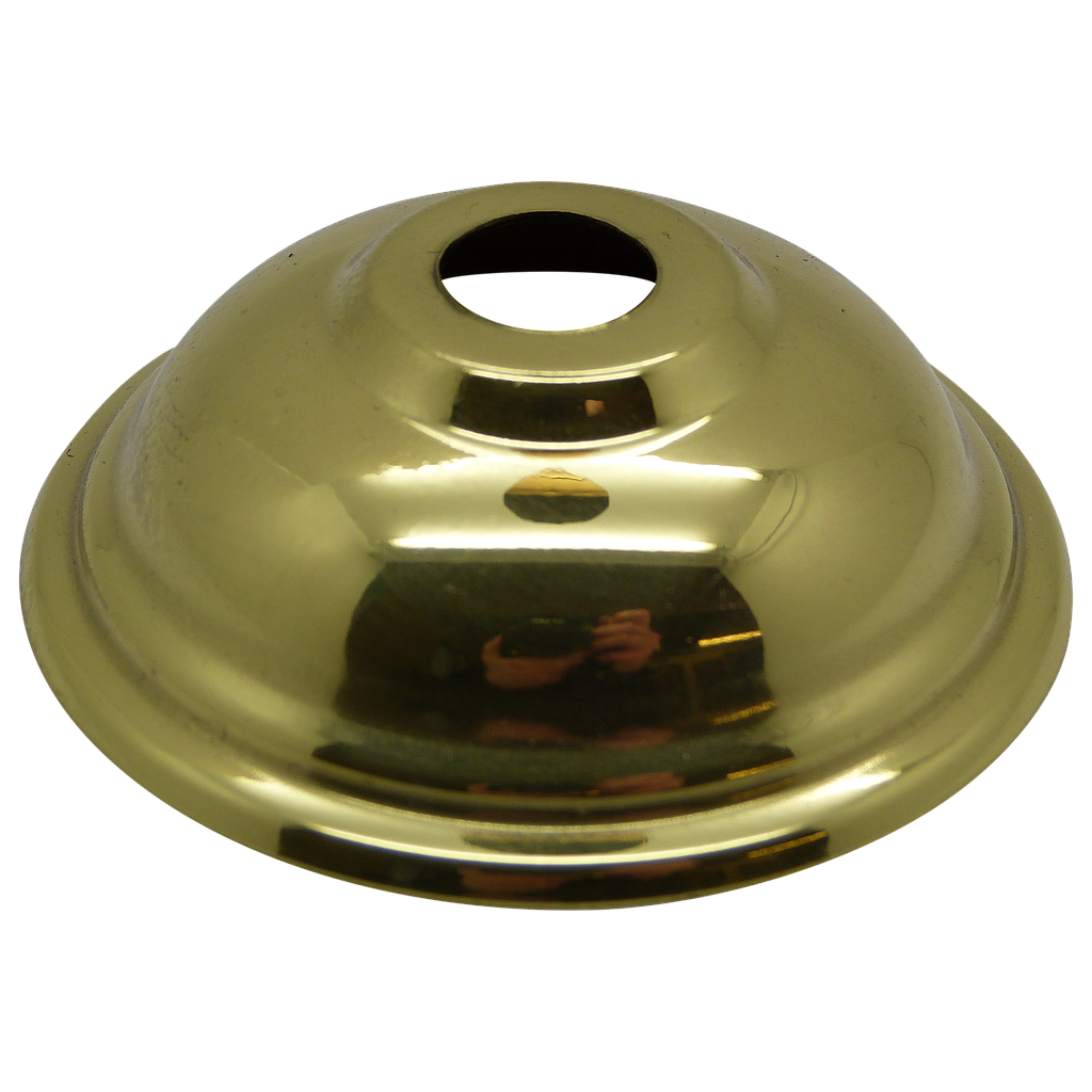 "[05203] Vase Top Polished Brass Shaped 70mm With 1/2"" Hole"