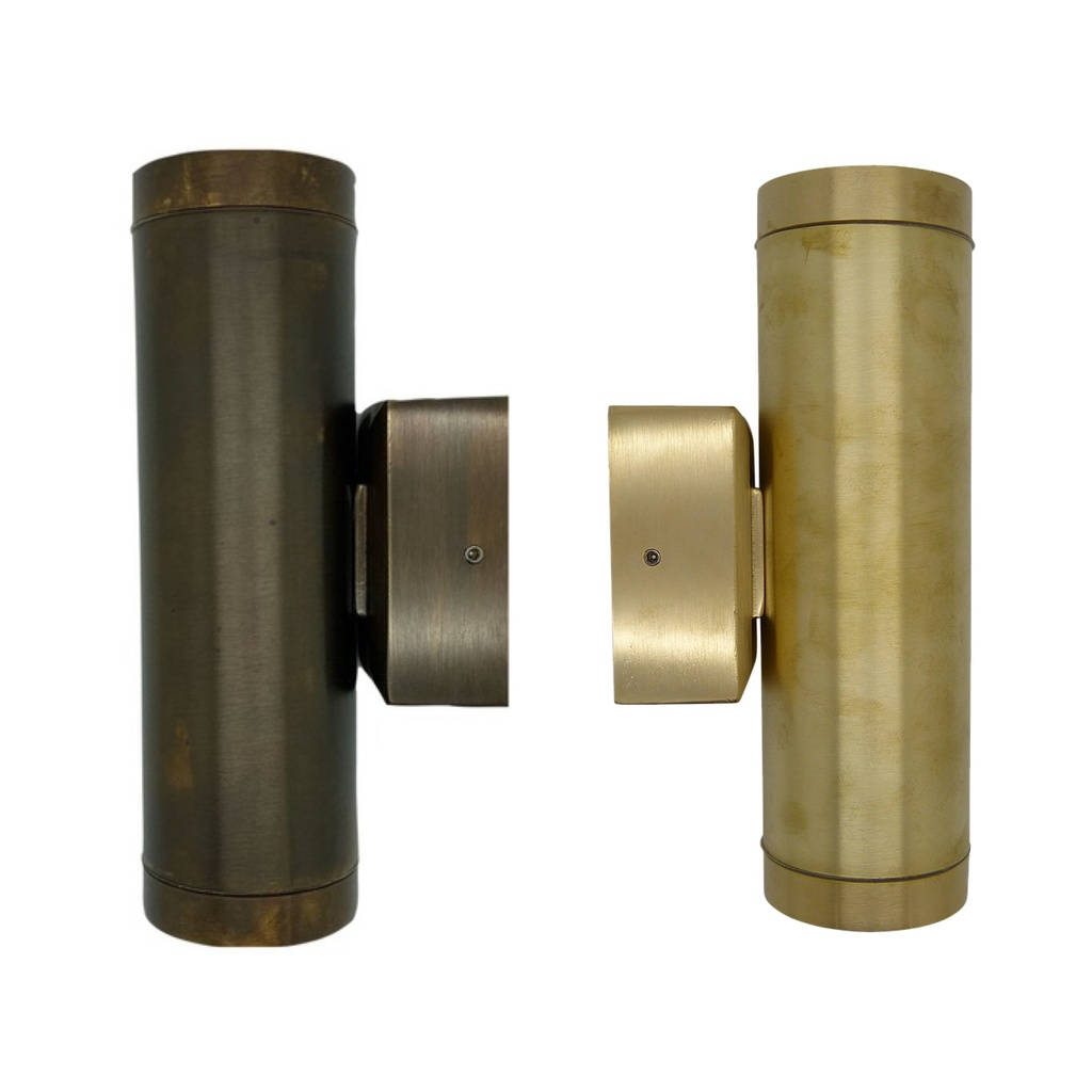 [06294] Solid Brass Up & Down Wall Light GU10 IP64 210mm x 100mm