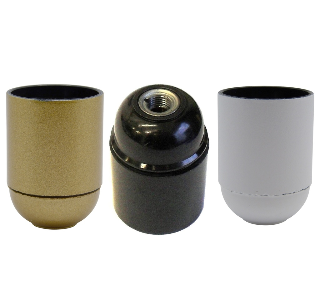 [E27 Lampholder] Continental Style Lampholder ES / E27 10mm Threaded Entry, Not Shade Compatible