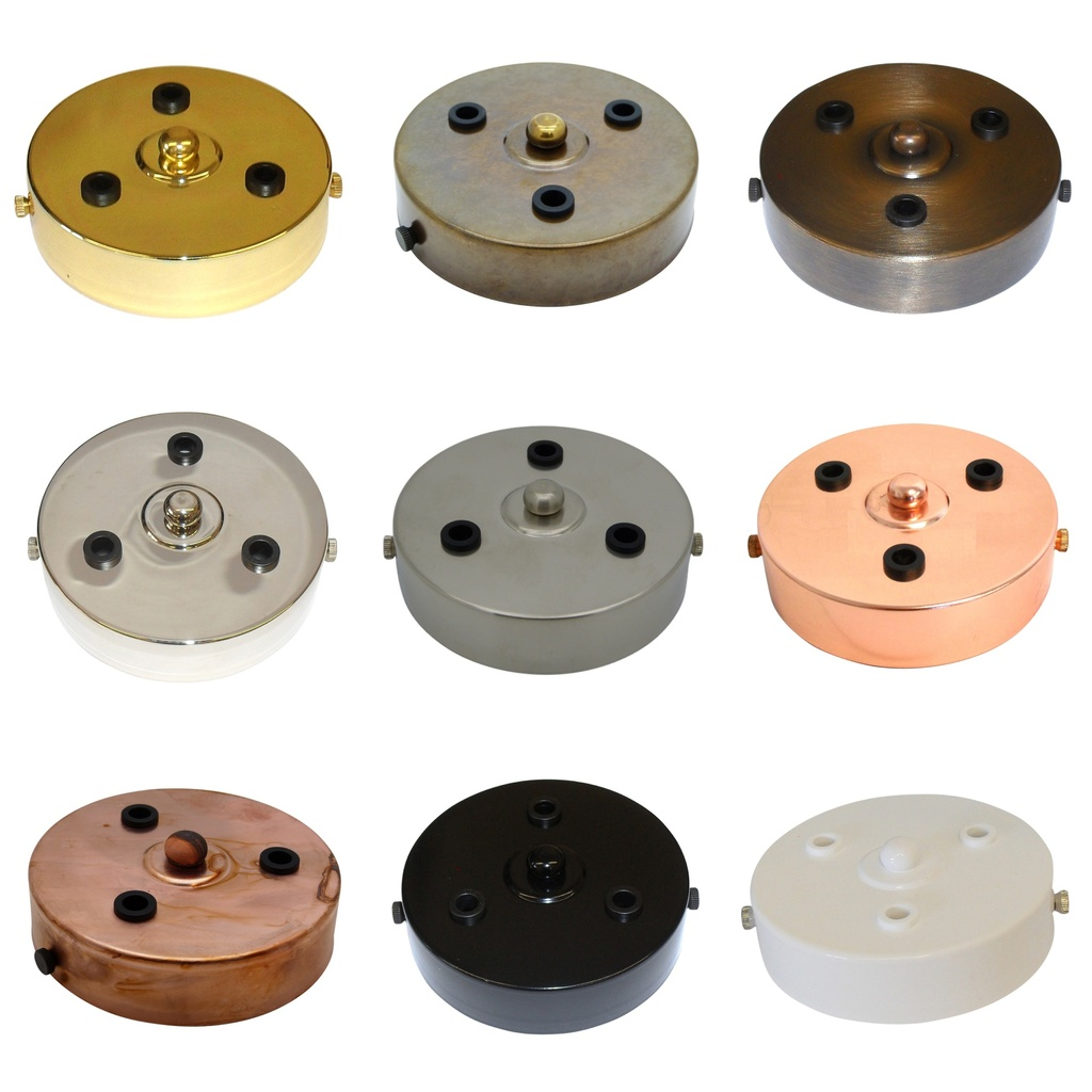 [Ceiling Rose] 3-Outlet Ceiling Rose Metal 100mm Width