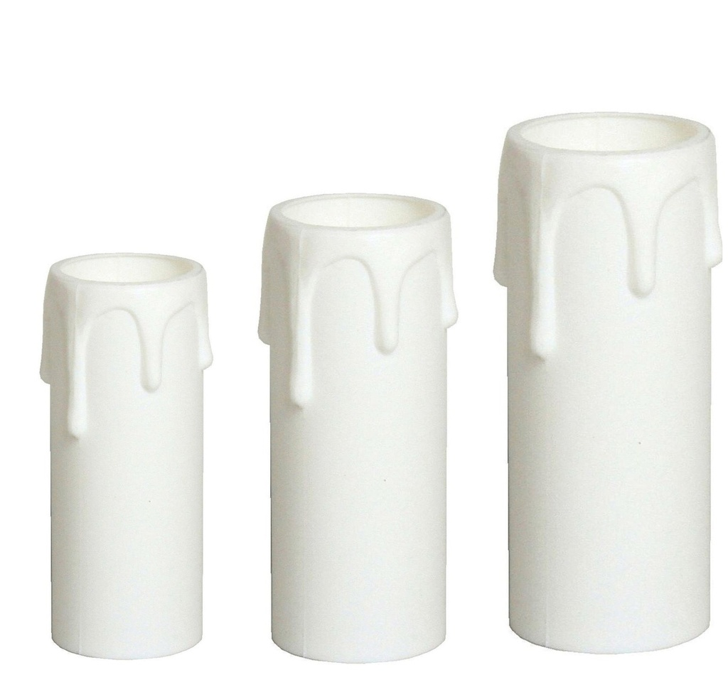 [Candle Sleeve] Plastic Drip White, Internal Diameter: 24mm