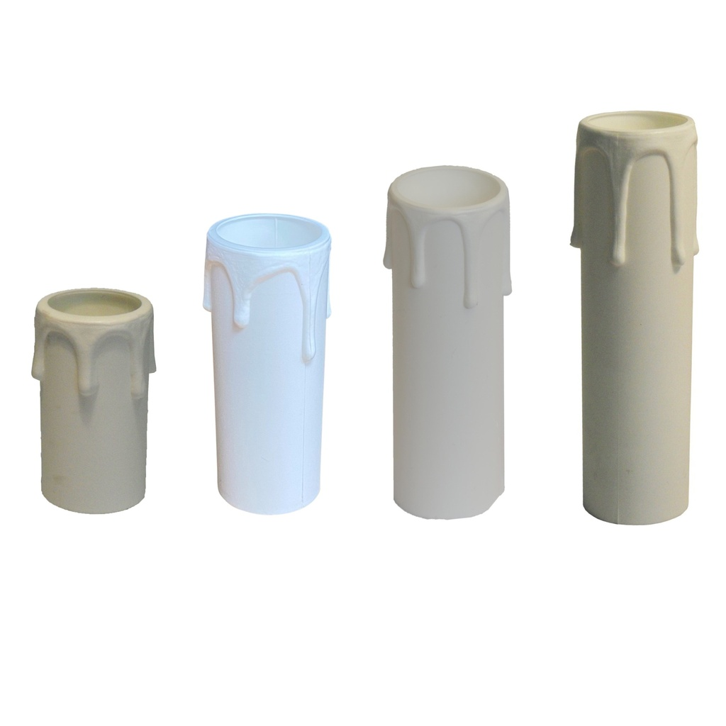[Candle Sleeve] Plastic Drip White, Internal Diameter: 27mm