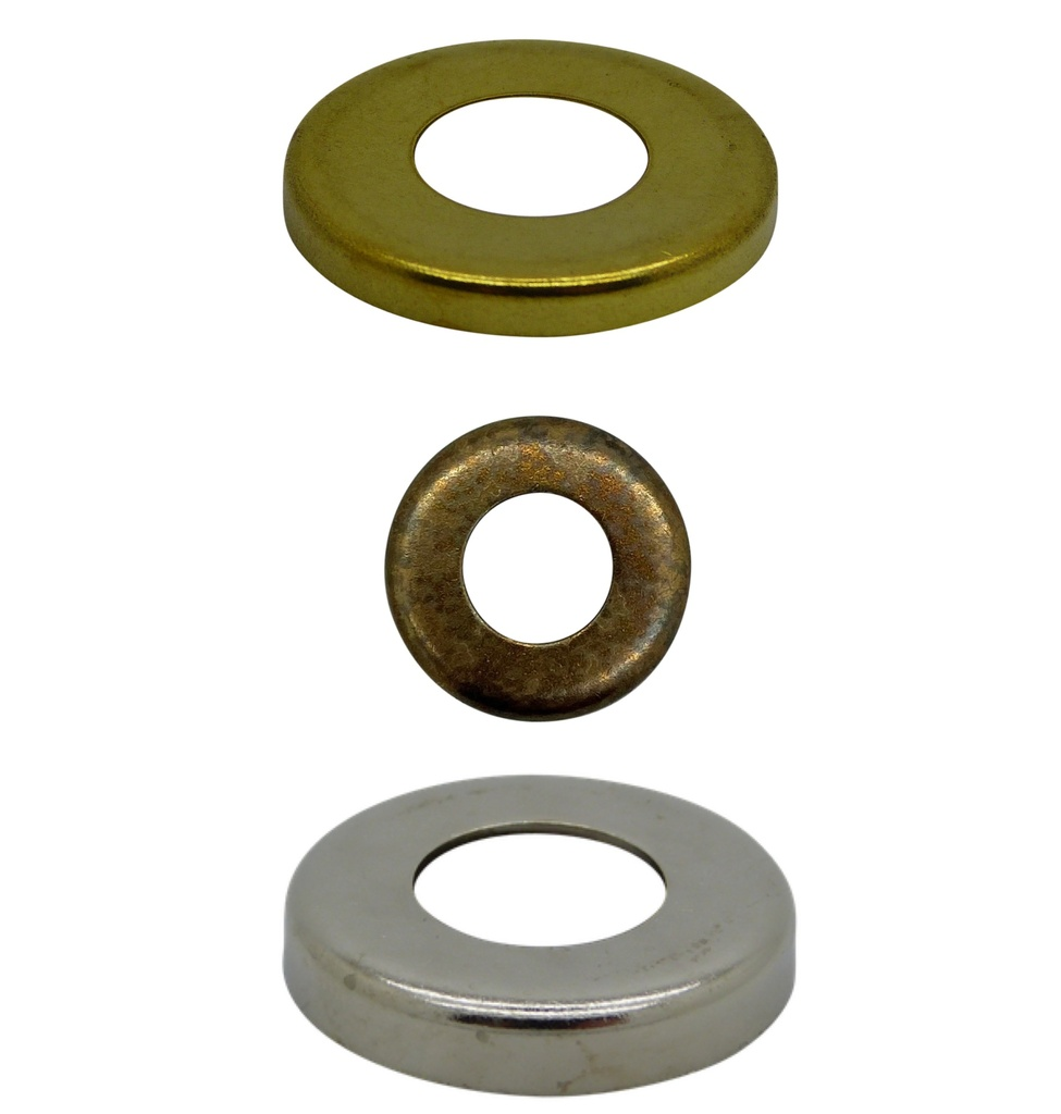 "[Raised Edge Washer] End Cap / Locknut Cover, Diameter 27mm with ½"" hole"