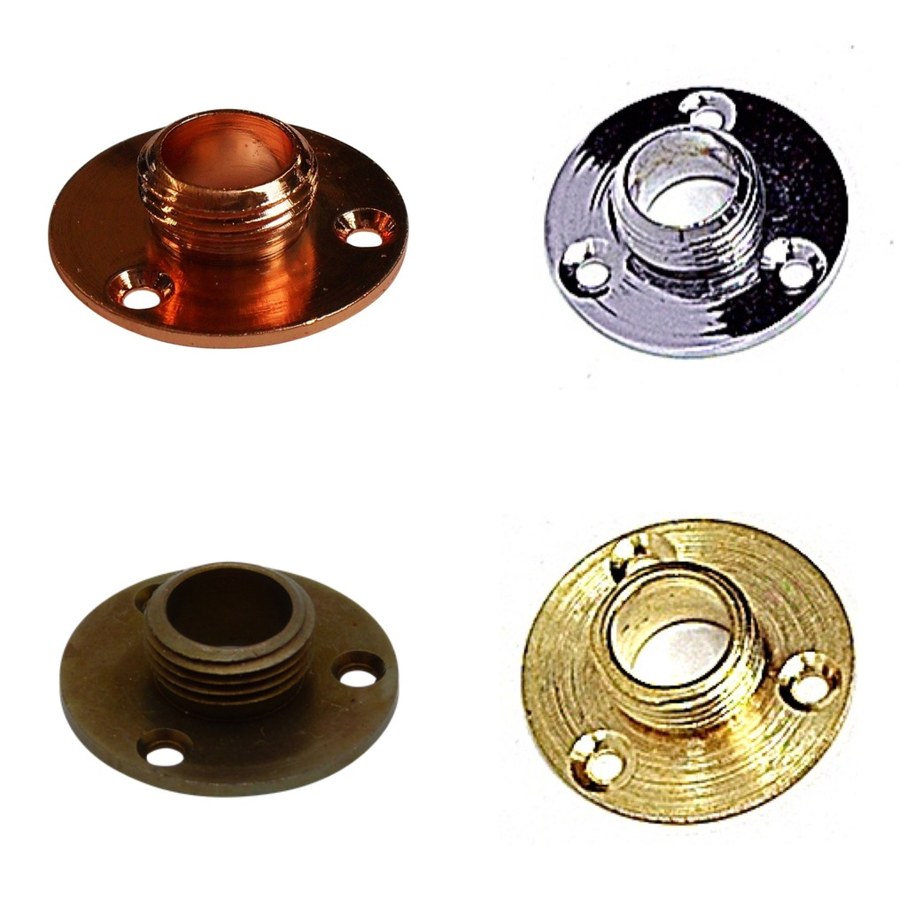 "[Flange Plate] Flange Plate ½"" Male Thread"