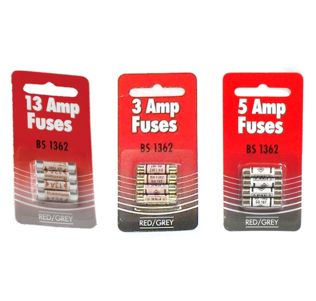 [Plug Fuse] Plug Fuse Card of 4 BS1362