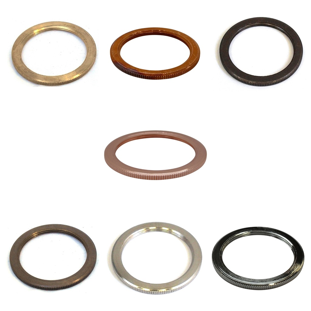 [Lock Ring] Milled Metal Shade Locking Ring for British Made ES / E27 Lampholders and Enabler Skirts