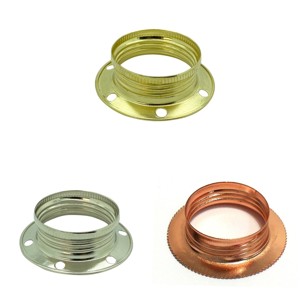 [Lock Ring] Pressed Metal Shade Locking Ring for Continental Style Lampholders, SES / E14 or SBC / B15