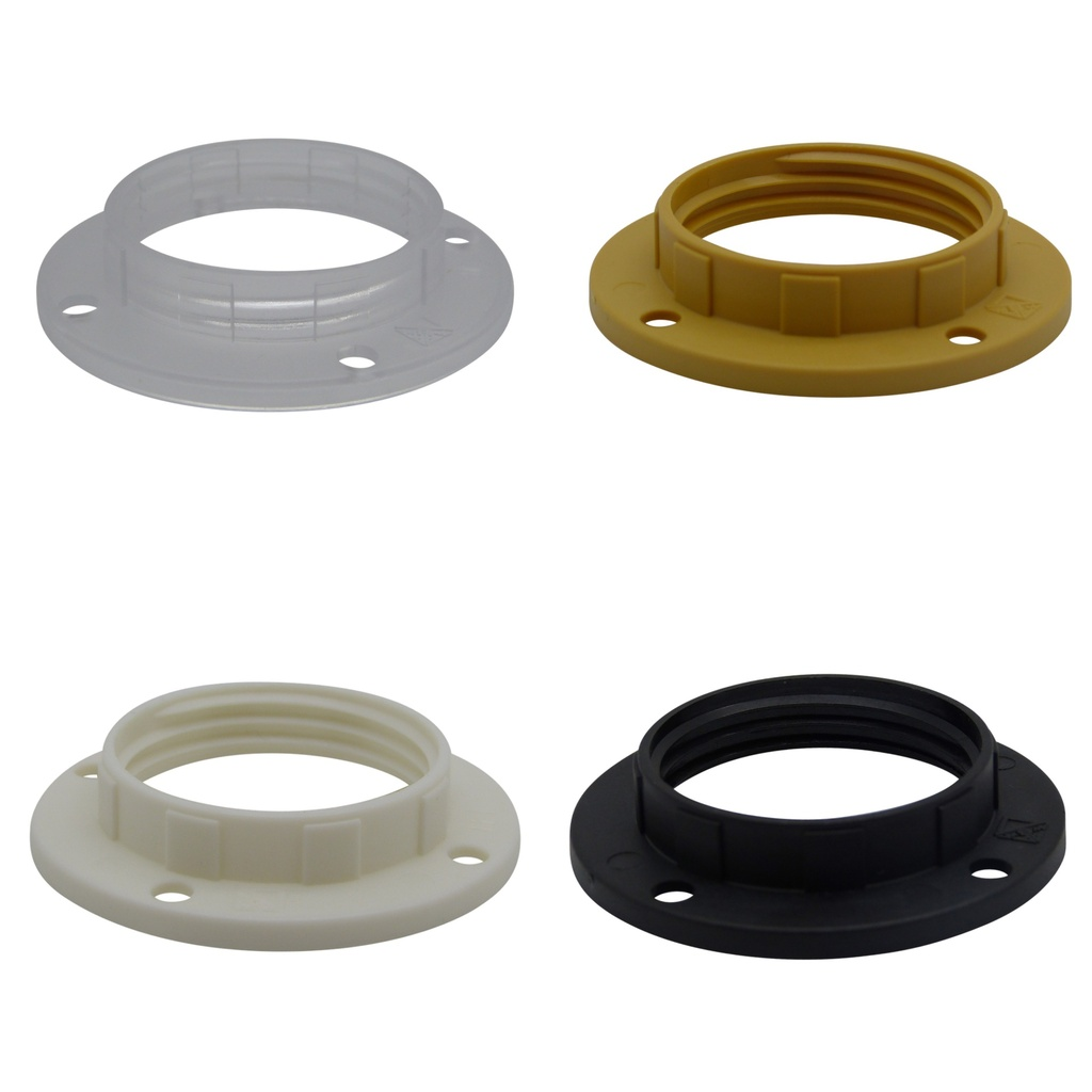 [Lock Ring] Plastic Shade Locking Ring for Continental Style Lampholders, SES / E14 or SBC / B15