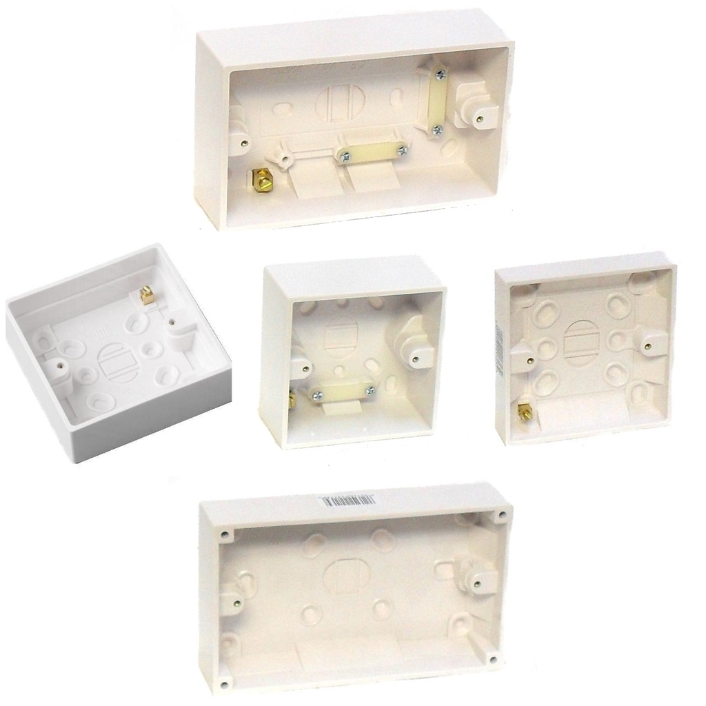 [Surface Pattress Box White] Plastic Box Surface