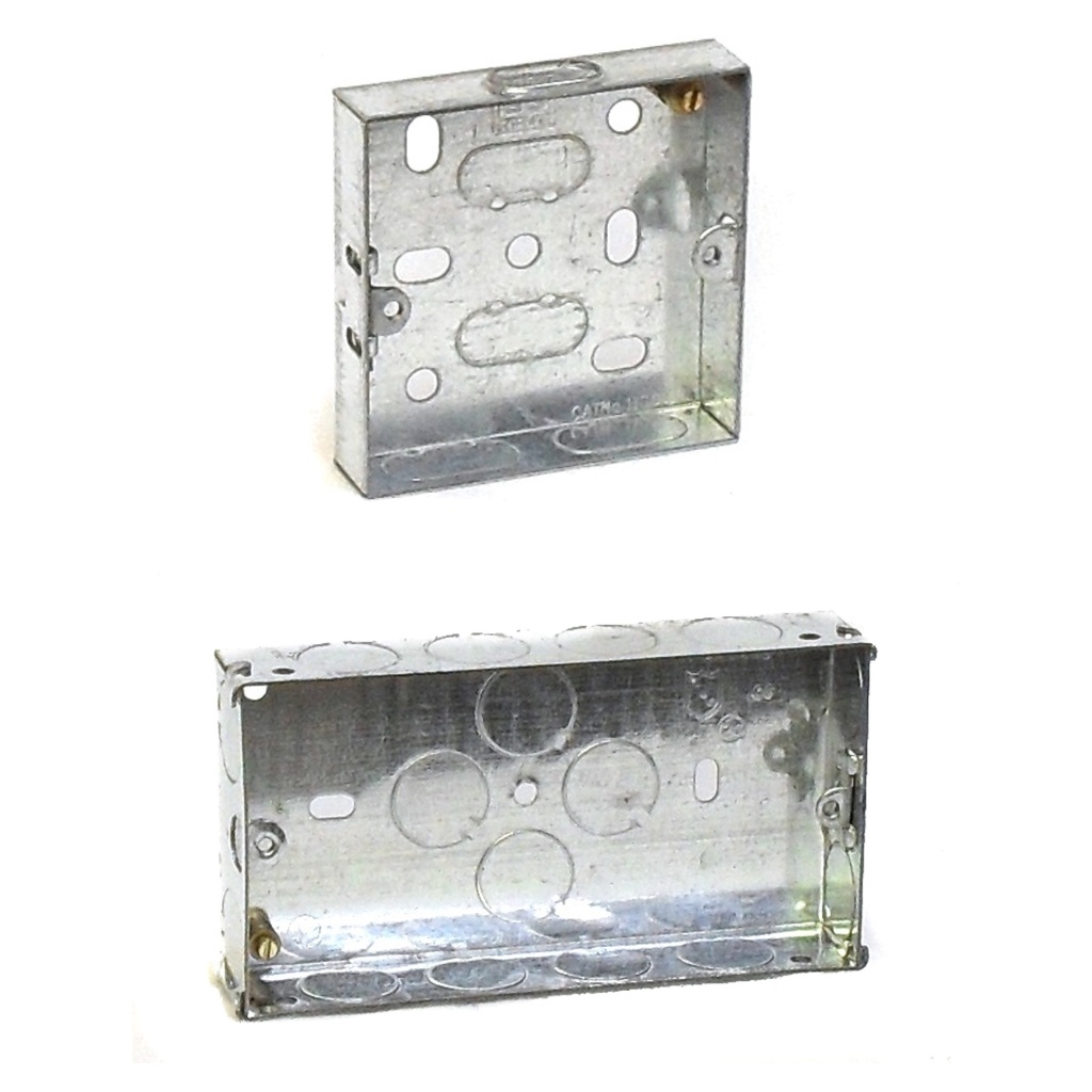 [Galvanised Steel Knockout Box] Metal Back Box