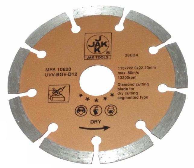 "[07288] Diamond Cutting Blade 4½""/115mm (Dry)"