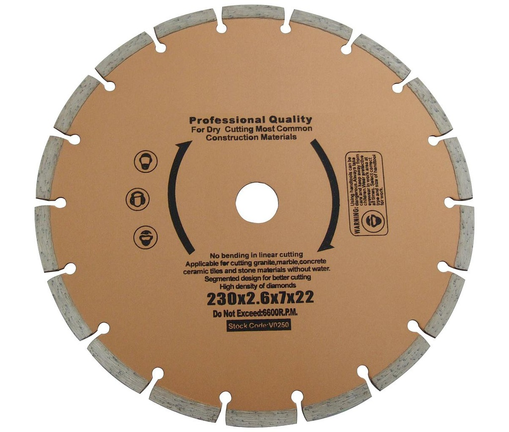 "[07864] Diamond Cutting Blade 9""/230mm (Dry)"