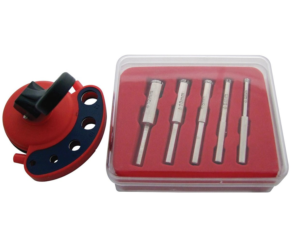 [07032] Diamond Tile Core Drill Kit with Vacuum Base Drill Guide