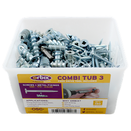 [07006] Orbix P/B Speed Fixings Combi-Tub 3  150pk
