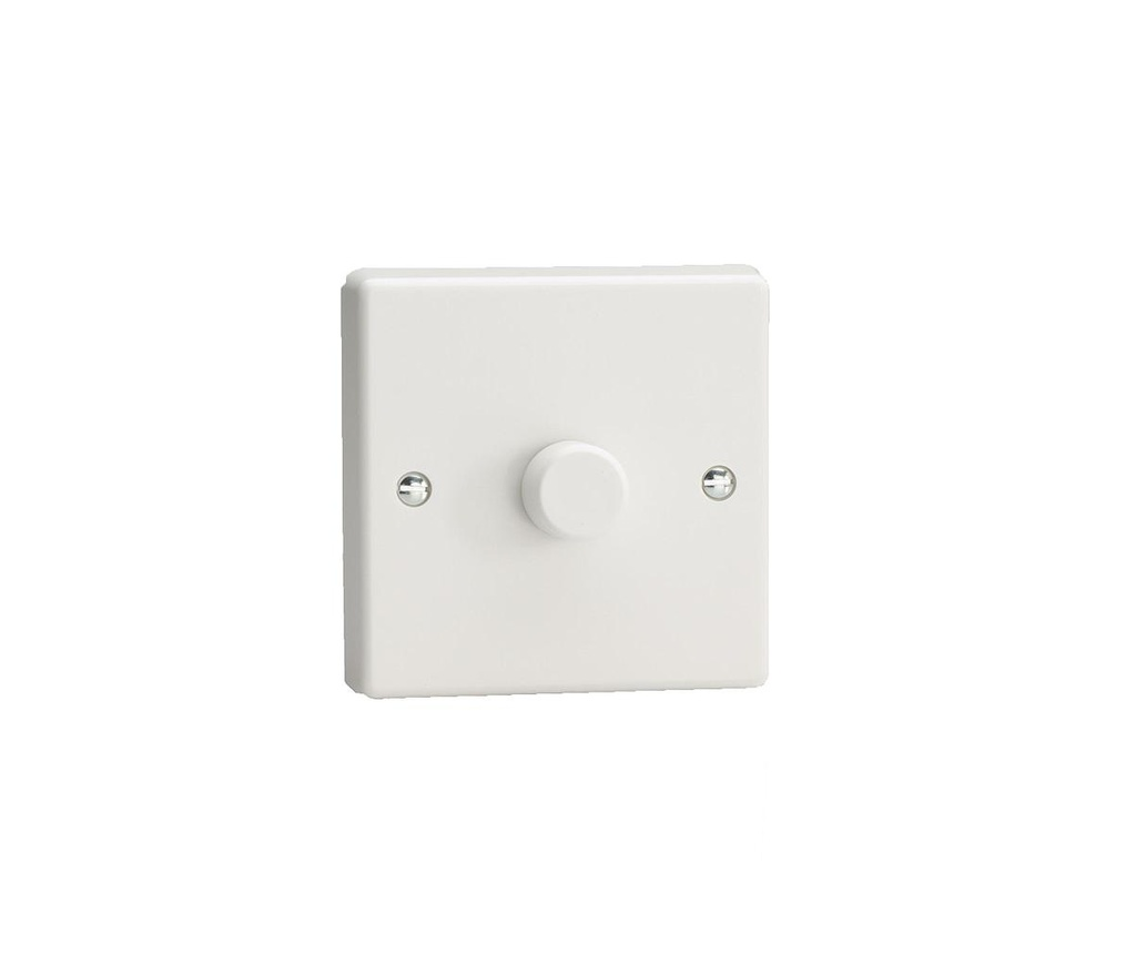 [03002] Dimmer 400W White 1G Rotary HQ1W